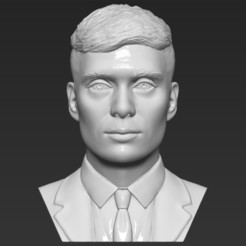 Download STL file Tommy Shelby from Peaky Blinders bust 3D printing ready stl obj, PrintedReality