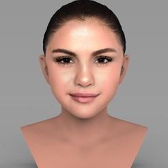 Fichier STL Selena Gomez buste prêt pour l'impression 3D couleur, PrintedReality