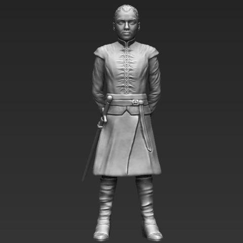 Arya Stark 3D printing ready stl obj