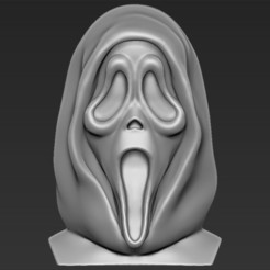 Download 3D printing models Ghostface from Scream bust 3D printing ready stl obj, PrintedReality