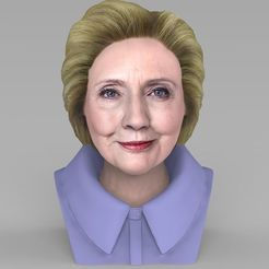 STL Hillary Clinton bust ready for full color 3D printing, PrintedReality