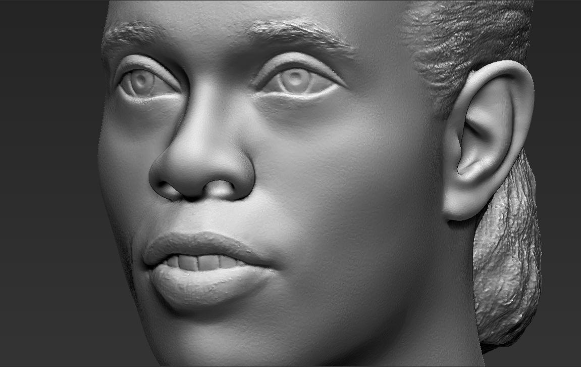 18.jpg Download STL file Ronaldinho bust ready for full color 3D printing • 3D print model, PrintedReality