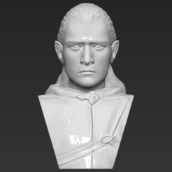 3D printer files Legolas bust Lord of the Rings 3D printing ready stl obj, PrintedReality