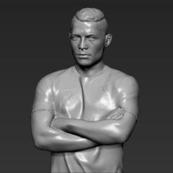 Télécharger STL Cristiano Ronaldo Portugal Impression 3D prêt à l'emploi stl obj, PrintedReality