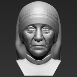 1.jpg Download STL file Mother Teresa bust 3D printing ready stl obj formats • 3D printing model, PrintedReality