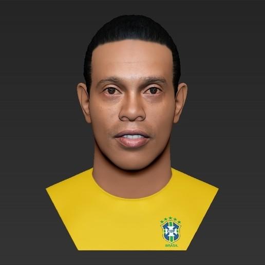 24.jpg Download STL file Ronaldinho bust ready for full color 3D printing • 3D print model, PrintedReality