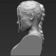 Download 3D printer templates Lara Croft Angelina Jolie bust 3D printing ready stl obj, PrintedReality
