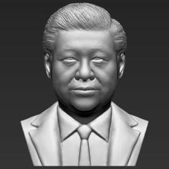 Download 3D printer templates Xi Jinping bust 3D printing ready stl obj, PrintedReality