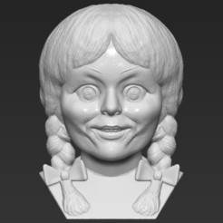 1.jpg Download STL file Annabelle bust 3D printing ready stl obj formats • 3D printable template, PrintedReality