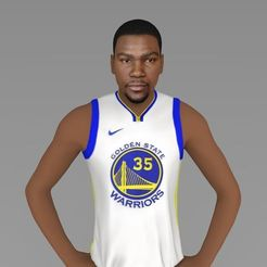 3D printing model Kevin Durant ready for full color 3D printing, PrintedReality