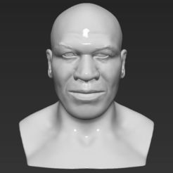 Download 3D printer model Mike Tyson bust 3D printing ready stl obj, PrintedReality