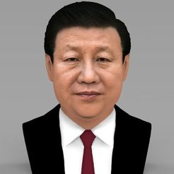 Download 3D printing models Xi Jinping bust ready for full color 3D printing, PrintedReality