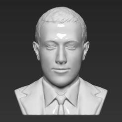 STL Mark Zuckerberg bust 3D printing ready obj stl, PrintedReality