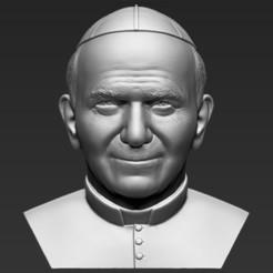 1.jpg Download STL file Pope John Paul II bust 3D printing ready stl obj formats • 3D printing model, PrintedReality