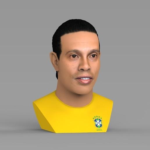 untitled.1685.jpg Download STL file Ronaldinho bust ready for full color 3D printing • 3D print model, PrintedReality
