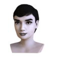 Download 3D model Audrey Hepburn black and white bust for full color 3D printing, PrintedReality