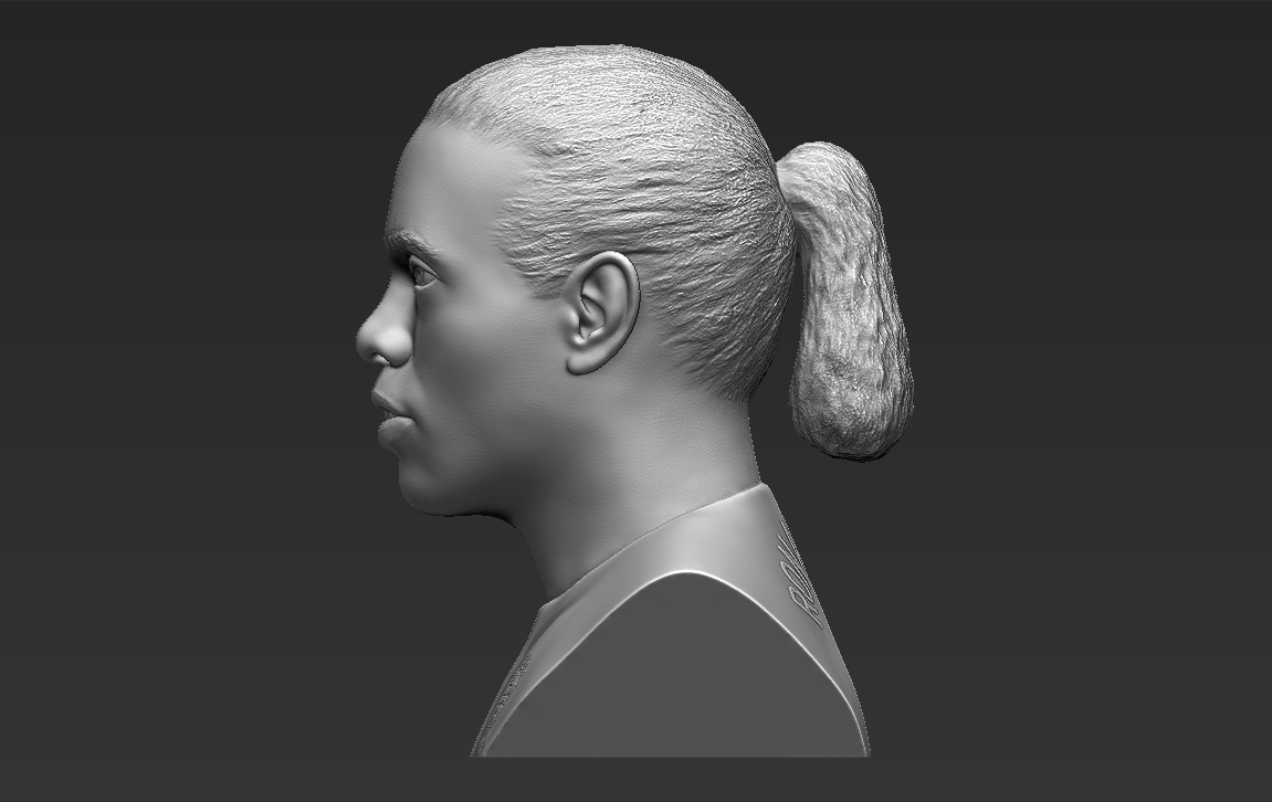 4.jpg Download STL file Ronaldinho bust 3D printing ready stl obj formats • 3D printable template, PrintedReality