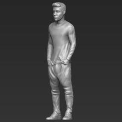 Download 3D printer templates Justin Bieber 3D printing ready stl obj, PrintedReality