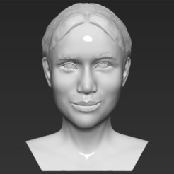 Download STL Meghan Markle bust 3D printing ready stl obj, PrintedReality
