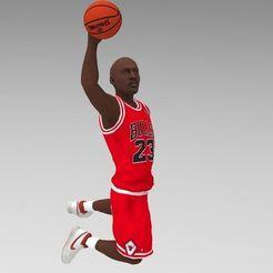 STL file Michael Jordan ready for full color 3D printing, PrintedReality