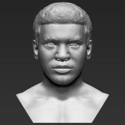 3D printing model Muhammad Ali bust 3D printing ready stl obj, PrintedReality