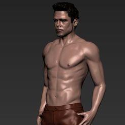 tyler-durden-brad-pitt-fight-club-for-full-color-3d-printing-3d-model-obj-mtl-stl-wrl-wrz.jpg Télécharger fichier STL Tyler Durden Brad Pitt Fight Club pour l'impression 3D en couleur • Objet à imprimer en 3D, PrintedReality