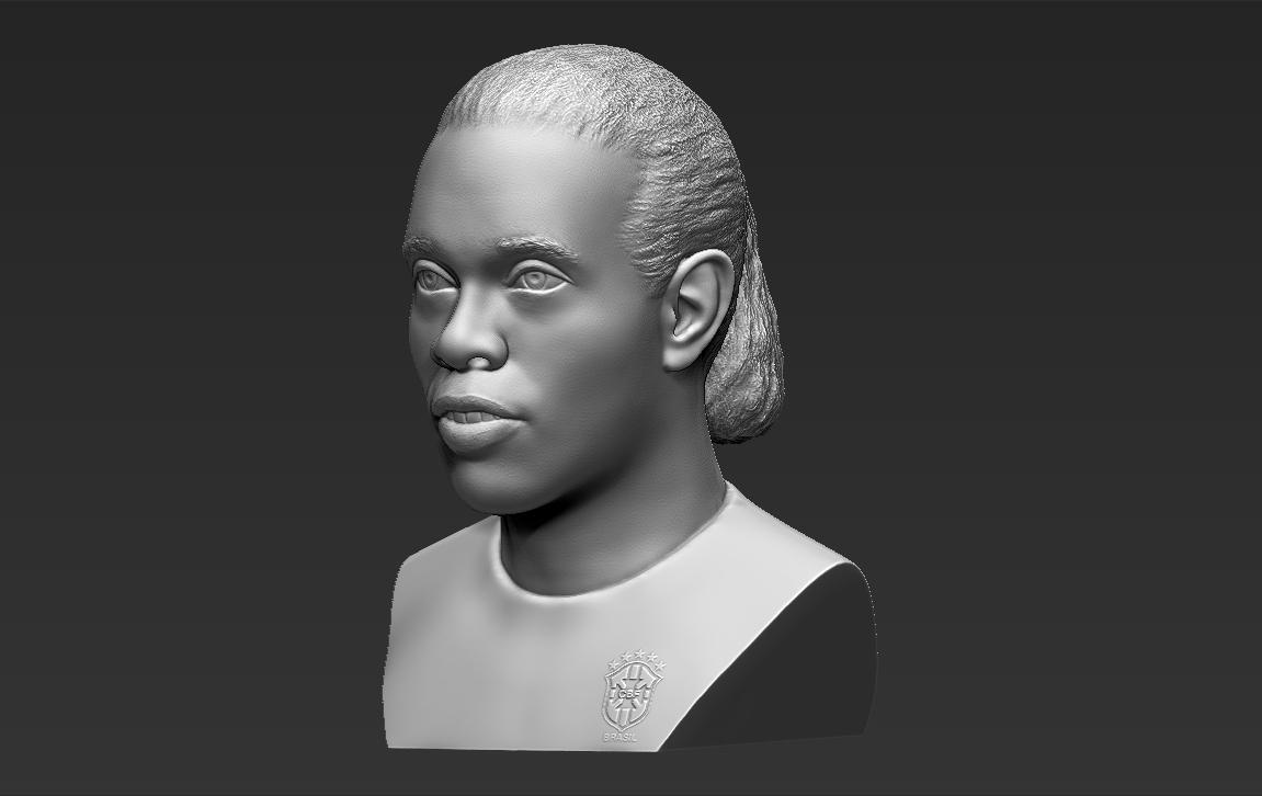 3.jpg Download STL file Ronaldinho bust ready for full color 3D printing • 3D print model, PrintedReality