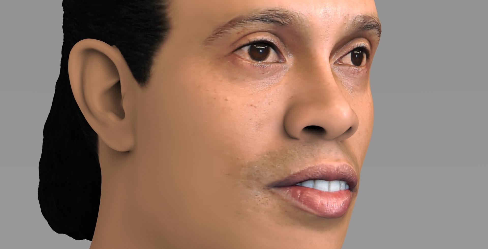 untitled.1689.jpg Download STL file Ronaldinho bust ready for full color 3D printing • 3D print model, PrintedReality