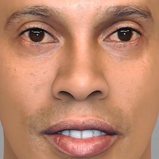 untitled.1688.jpg Download STL file Ronaldinho bust ready for full color 3D printing • 3D print model, PrintedReality