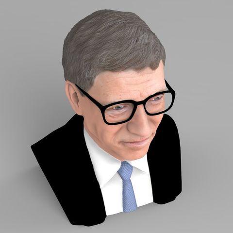 a60b1a4f217 ... PrintedReality 3D print model Bill Gates bust ready for full color 3D  printing