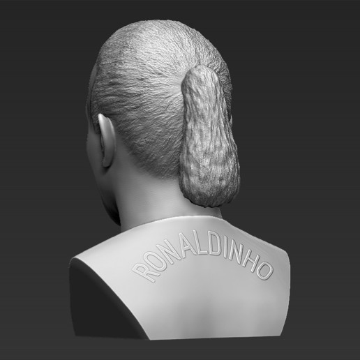 5.jpg Download STL file Ronaldinho bust 3D printing ready stl obj formats • 3D printable template, PrintedReality