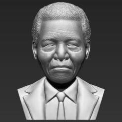 Archivos 3D Nelson Mandela busto 3D impresión stl listo objeto, PrintedReality