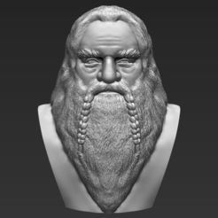 3D printer models Gimli Lord of the Rings bust 3D printing ready stl obj, PrintedReality