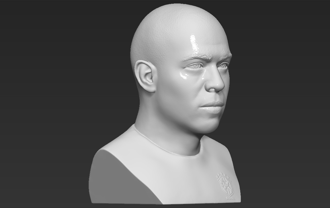 9.jpg Download STL file Ronaldo Nazario Brazil bust 3D printing ready stl obj formats • Template to 3D print, PrintedReality