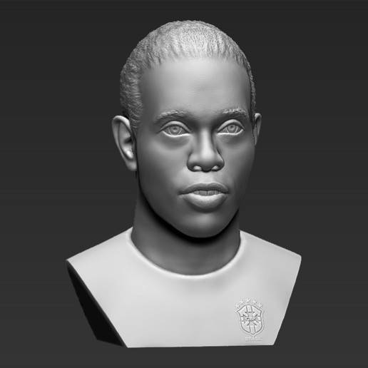 11.jpg Download STL file Ronaldinho bust 3D printing ready stl obj formats • 3D printable template, PrintedReality