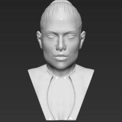 3D print files Jennifer Lopez bust 3D printing ready stl obj, PrintedReality