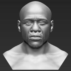 Download 3D printing files Floyd Mayweather bust 3D printing ready stl obj, PrintedReality