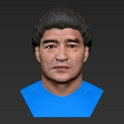 Descargar archivo STL El busto de Diego Maradona listo para la impresión en 3D a todo color • Plan para imprimir en 3D, PrintedReality