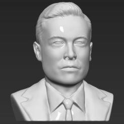 STL file Elon Musk bust 3D printing ready obj stl, PrintedReality