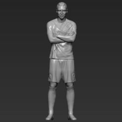 Download STL Zlatan Ibrahimovic LA Galaxy 3D printing ready stl obj, PrintedReality