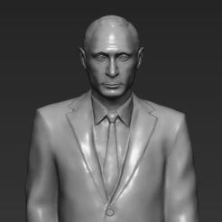 STL Vladimir Putin 3D printing ready stl obj, PrintedReality