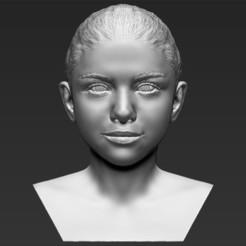 Plan imprimante 3D Selena Gomez buste Selena Gomez impression 3D prêt à l'emploi stl obj, PrintedReality