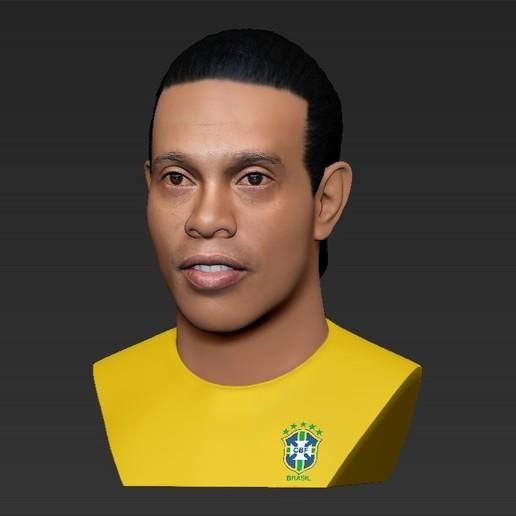 25.jpg Download STL file Ronaldinho bust ready for full color 3D printing • 3D print model, PrintedReality