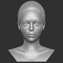 1.jpg Download STL file Beautiful woman bust 3D printing ready TYPE 8 • 3D print template, PrintedReality