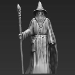 3D print model Gandalf the Lord of the Rings Hobbit 3D printing ready stl obj, PrintedReality