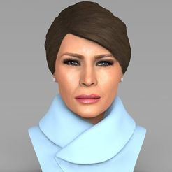 Download STL file Melania Trump bust ready for full color 3D printing, PrintedReality
