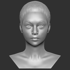 1.jpg Download STL file Beautiful woman bust 3D printing ready TYPE 5 • 3D printing design, PrintedReality