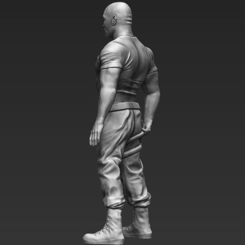 Dwayne The Rock Johnson Fast and Furious ready for full color 3D printing