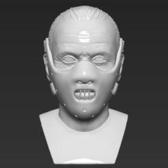 Download 3D printing designs Hannibal Lecter bust 3D printing ready stl obj, PrintedReality