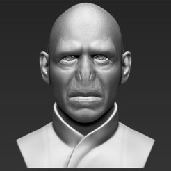 STL files Lord Voldemort bust 3D printing ready stl obj, PrintedReality